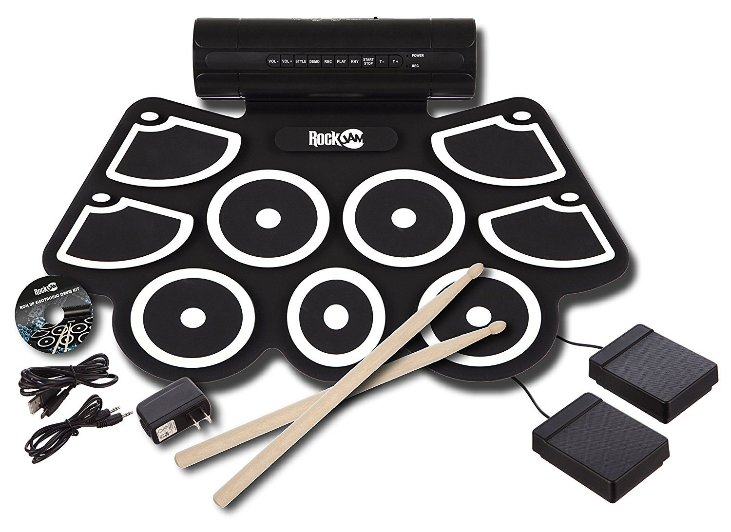 Rockjam Electronic Roll Up Midi Drum Kit With Built In