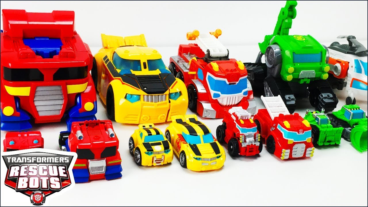 Transformers Rescue Bots Toys Collection Optimus Prime Bumblebee