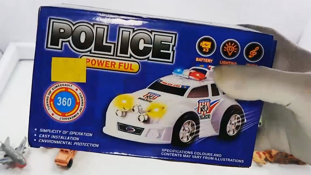 Powerful Police Car Toys For Kids Blue Color - Powerful Police Car Toys For Kids Blue Color