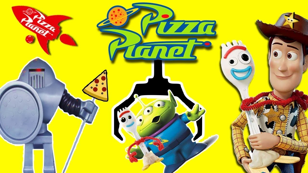 Toy Story 4 FIND FORKY at PIZZA PLANET GAME w Toy Story 4 Movie Toys - Toy Story 4 FIND FORKY at PIZZA PLANET GAME w/ Toy Story 4 Movie Toys